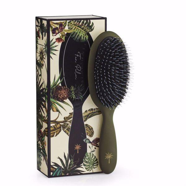 Fan Palm Hair Brush Medium - Jungle