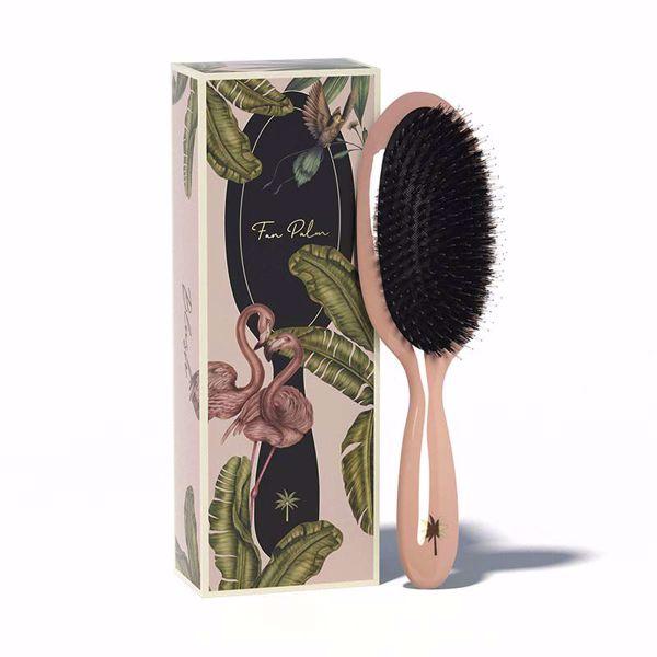 Fan Palm Hair Brush Medium - Blush