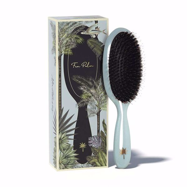 Fan Palm Hair Brush Medium - Maldives
